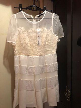 MOMA白色洋裝38號