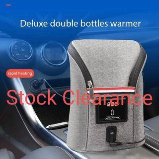 New Portable Polyester Deluxe Double Baby Car Bottle Warmer Baby Feeding