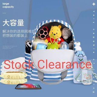 Fashion Style 3 in 1 Portable Travelling Waterproof Large Capacity Mommy Diaper Bag Backpack