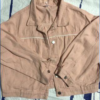 粉色牛仔外套 #剁手時尚
