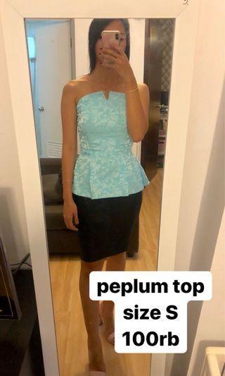 peplum tube top size S