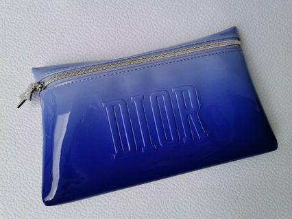 DIOR AUTHENTIC TWO TONES BLUE BEAUTY POUCH / BAG BRAND NEW
