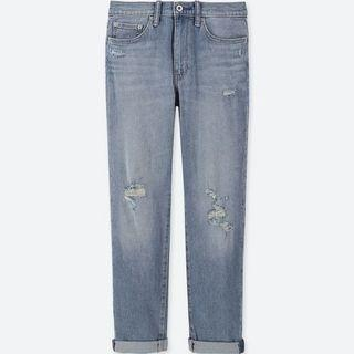 Uniqlo High Rise Straight Ankle Jeans (Boyfriend Fit)