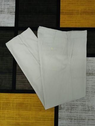 GU COTTON LINEN RELAXED PANTS SELUAR