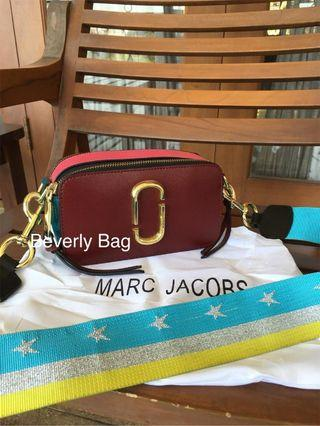 Jual Tas Bag MJ Snapshot LEATHER MIRROR QUALITY - Marun