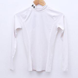 Size S / M UNDER ARMOUR Tight Top in White Pit 14