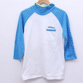 Size M ADIDAS NEO 3 Quarter Hoodie Tshirt Pit 19.5