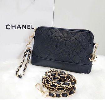 chanel authentic vip gift sling bag