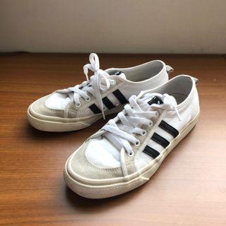 Adidas Nizza 黑白運動鞋 帆布鞋 球鞋 正品