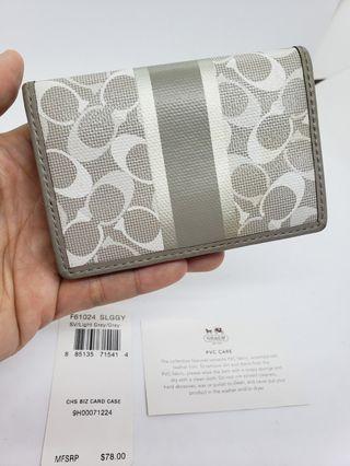 🎉含運特賣🎊coach專櫃正品名片包 卡夾包