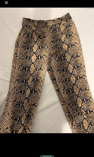 ZARA - snake wide leg pants