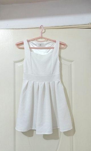 🌱AirSpace 白洋裝 無袖 簡約                              (婚禮 約會)