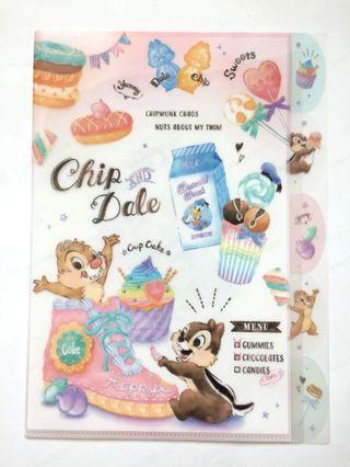 奇奇蒂蒂 多層次 A4 資料夾 日本 限定 迪士尼 文具 Chip 'n' Dale L夾 收納夾 Disney