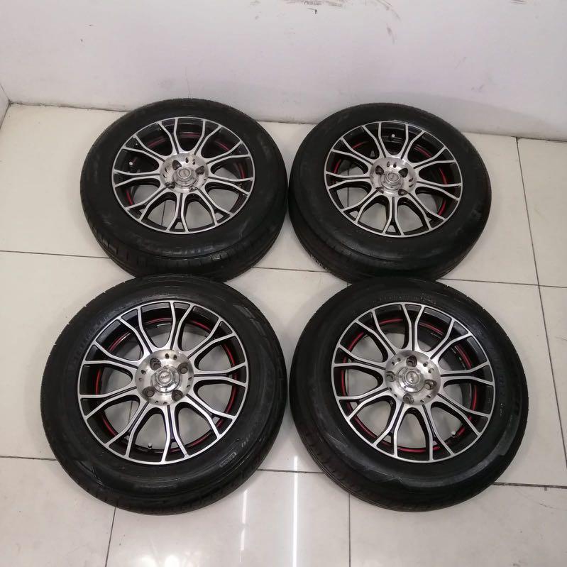 """15"""" Sports Rim With Tyre 4X100 (SR242)"""