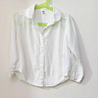 (百元童裝區) 二手【Uniqlo】女童白襯衫 110cm