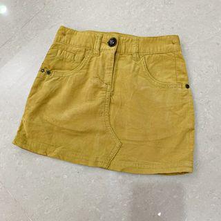 (百元童裝區) 二手英國品牌【NEXT】女童絨布短裙 4Y