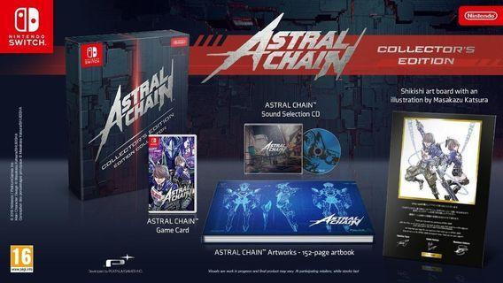 Nintendo Switch Astral Chain Collector Edition Eu Version Rare