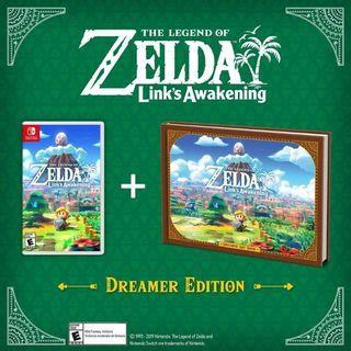 Nintendo Switch zelda awakening Dreamer's Edition and Steelcases