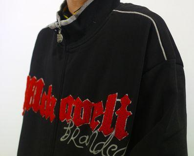「2pac makaveli 棉質 hip hop 西岸 古著 外套 右手有小破洞 肩:57 長:78 @舊到過去