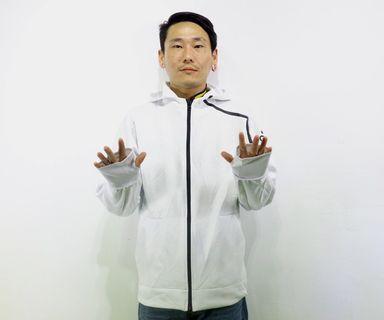 「adidas 白色 素面 大logo 運動外套 古著 風衣 外套 肩:68cm 長:68cm @舊到過去」