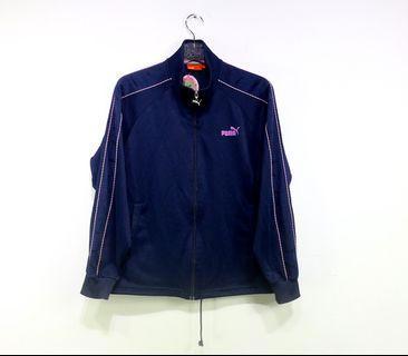 「PUMA 深藍色 粉紅色 運動外套 古著 風衣 外套 肩:55cm 長:63cm @舊到過去」