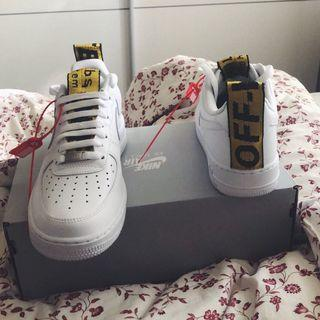 Off White Nike Air Force 1 Strap Custom 海外代購 EU35.5-EU45