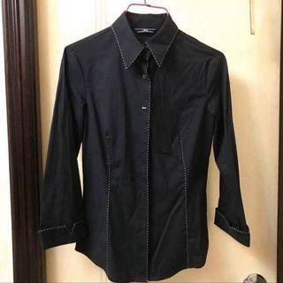 Black Slim Cut Shirt