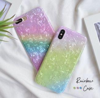 Rainbow case pearl Iphone
