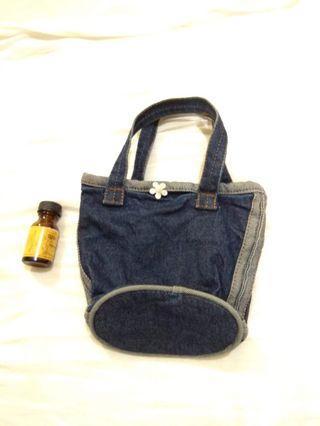 Denim Tote Bag Phone Bag
