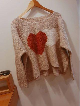 凱特小姐出清🌸奶茶色愛心毛衣 #剁手時尚