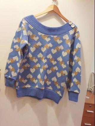 凱特小姐出清🌸淺藍色滿滿愛心毛衣 #剁手時尚