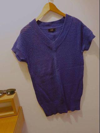 凱特小姐出清🌸洞洞藍紫色針織上衣