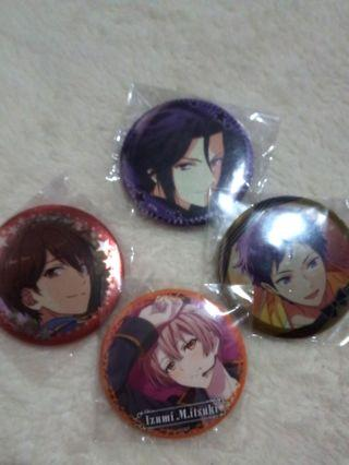 Assorted Anime badges (Utapri,Ensemble stars,Idolish 7,Tsukiuta)