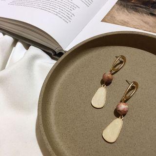 925銀針 復古天然石耳環 純銀耳環