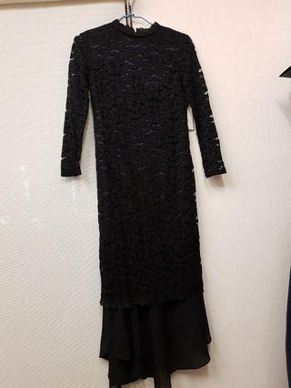 chloe chen復古蕾絲魚尾洋裝
