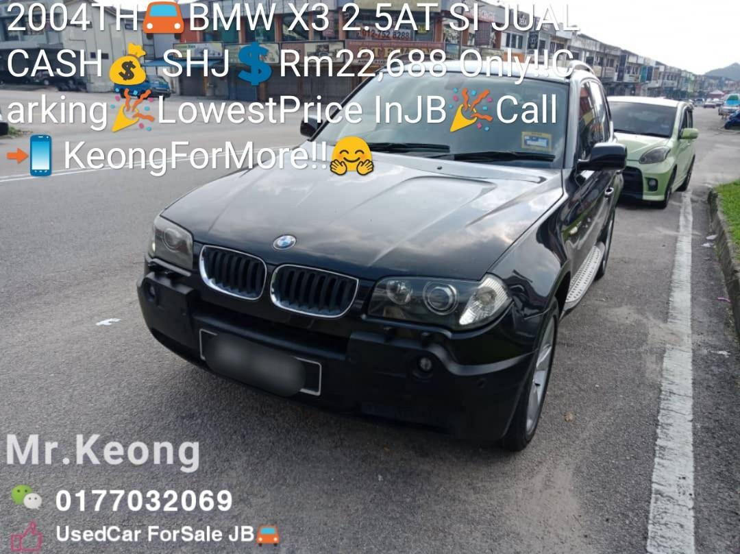 2004TH🚘BMW X3 2.5AT SI JUAL CASH💰 SHJ💲Rm22,688 Only‼ Carking🎉LowestPrice InJB🎉Call📲 KeongForMore‼🤗