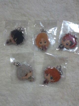 Anime Magic-Kyun mini metal keychain set