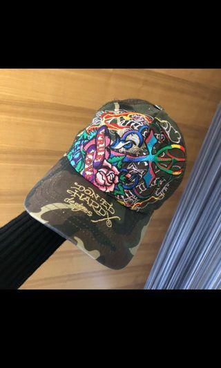 ED Hardy 迷彩刺繡網帽卡車帽