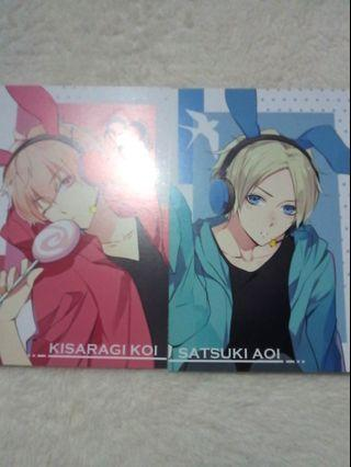 Anime Tsukiuta Easter postcard set