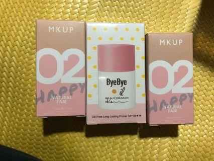 即期品MKUP美妝棒+妝前乳