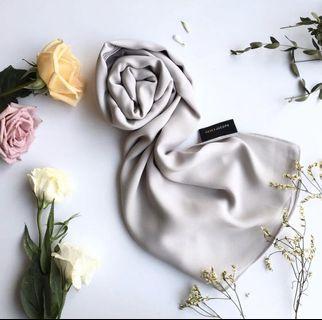 ereka jusof grey premium chiffon shawl