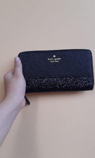 Katespade Wallet sale glitter black new