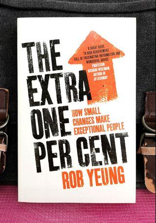 《NEW Paperback + The Differences Between High And Average Performers》Rob Yeung - THE EXTRA ONE PER CENT : How Small Changes Make Exceptional People