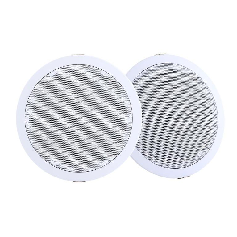 2 x 6″ In Ceiling Speakers Home 80W Speaker Theatre Stereo Outdoor Multi Room