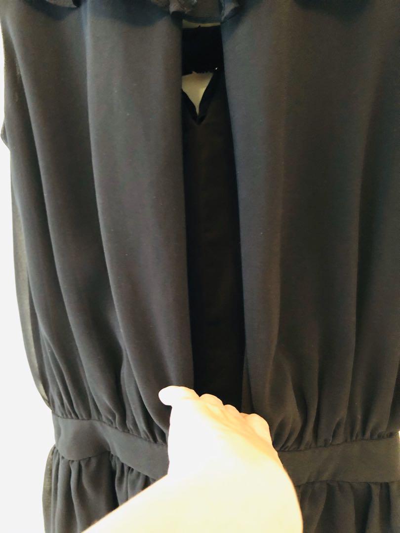 黃淑琦黑色開背洋裝