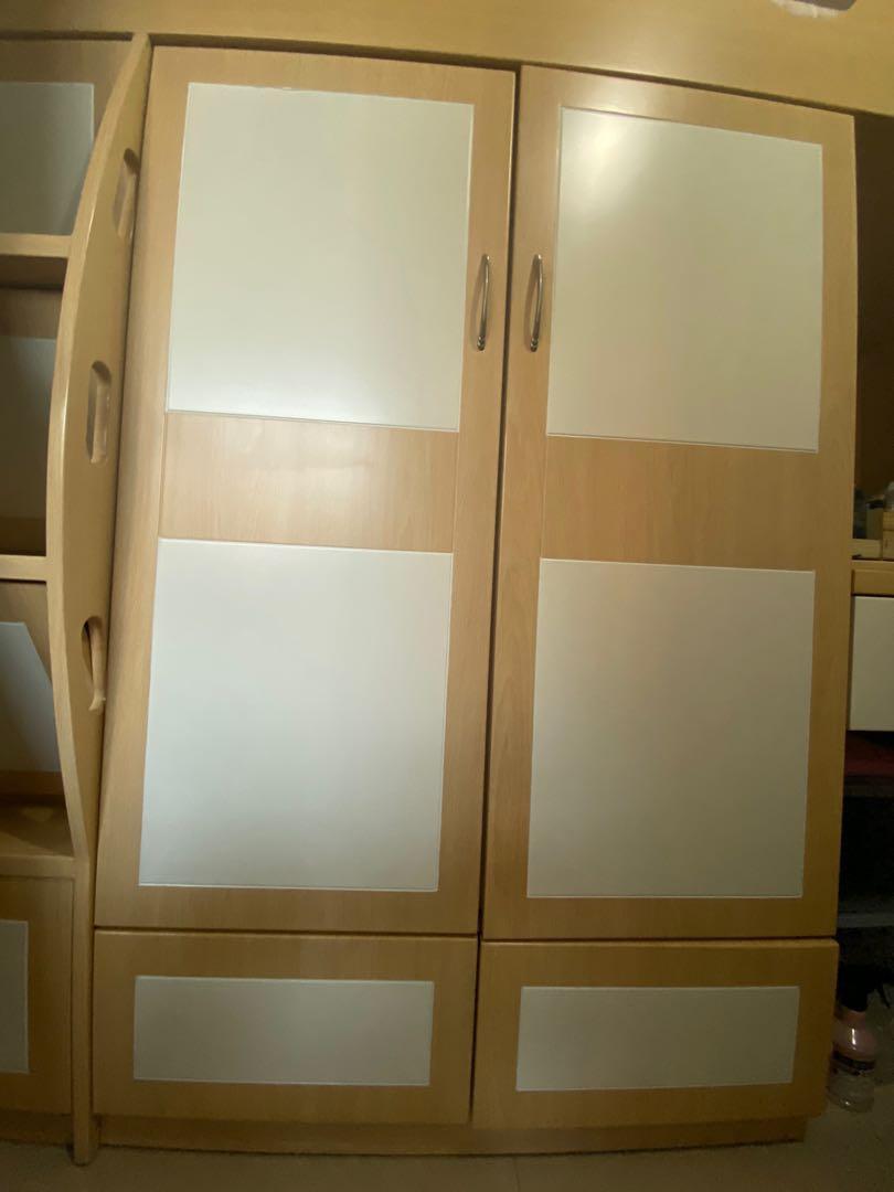 單人組合床 (書台/化妝台/衣櫃)- 送化妝椅