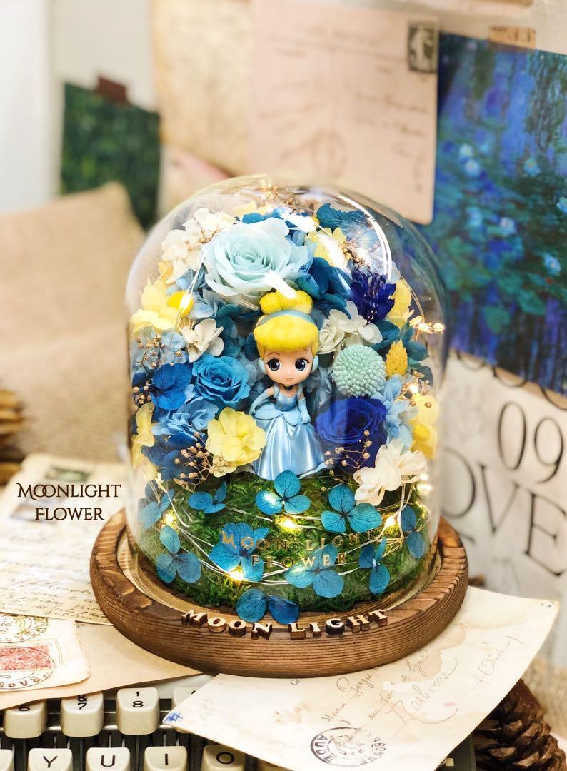 灰姑娘 保鮮花 瓶 qposket 生日 女友 週年紀念 滿天星 亁花花束