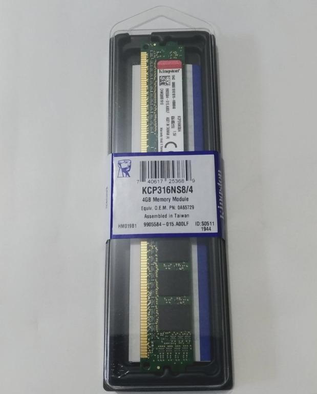 全新未拆 Kingston 金士頓 DDR3 1600 4G 終身保固 KCP316NS8/4 桌上型記憶體