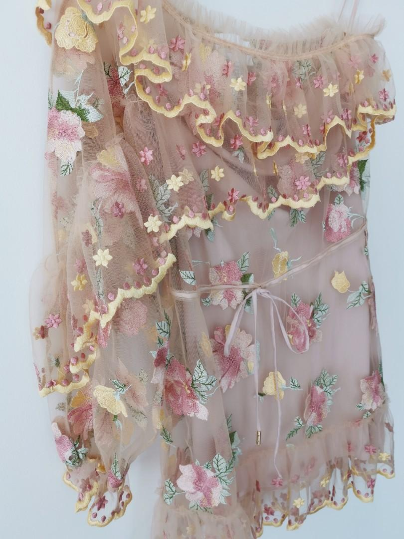 Alice Mccall Sweet Poppy Dress in Nude - Size 6 RRP $450