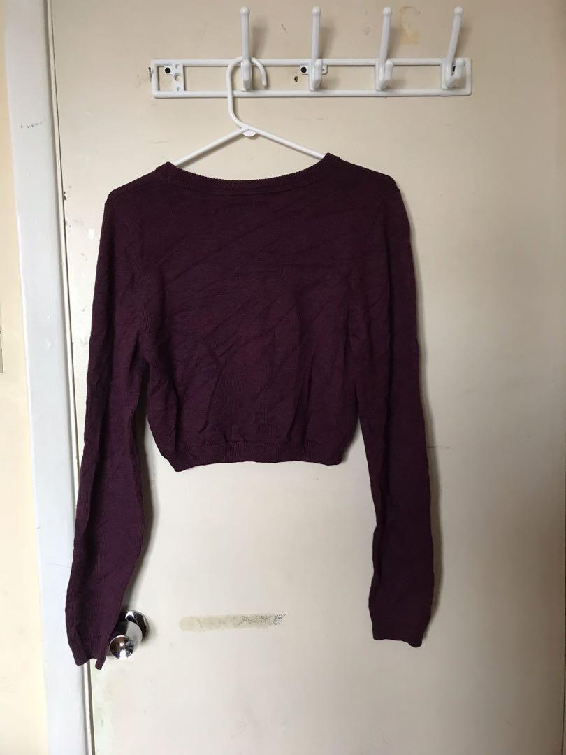 Aritzia Sunday Best Cropped Light Sweater
